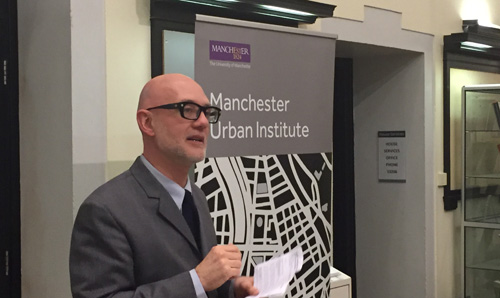 Professor Kevin Ward speaks at a recent MUI event.