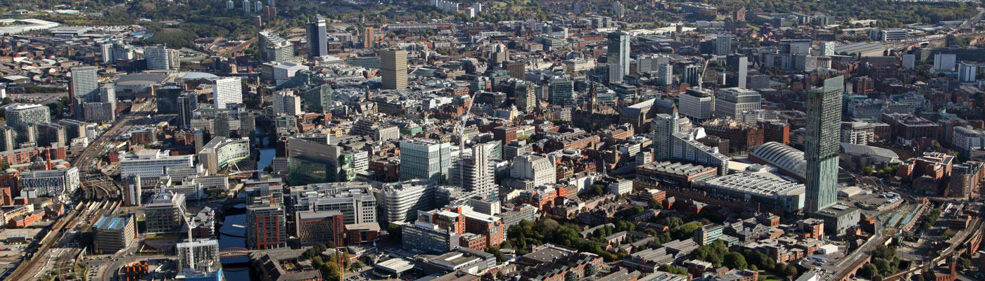 Manchester aerial shot