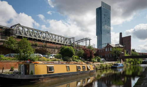 Beetham Tower and canal