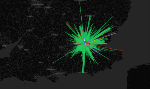 Commute flow mapping in the UK